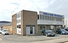Mitchells Southampton kitchen worktops showroom and warehouse