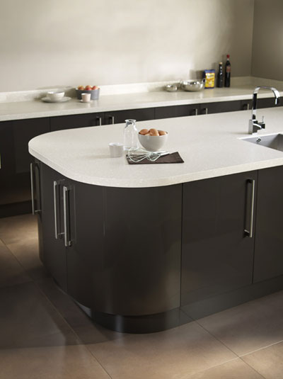 encore glacier solid surface island worktop