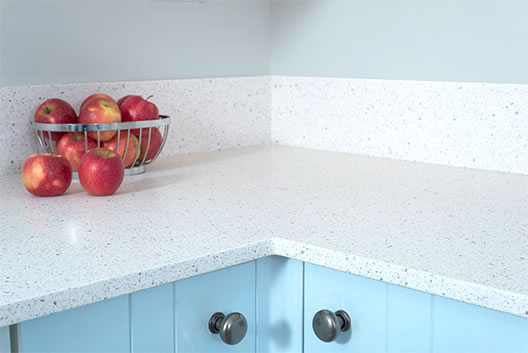 Mirostone stone solid kitchen worktop with seamless finish